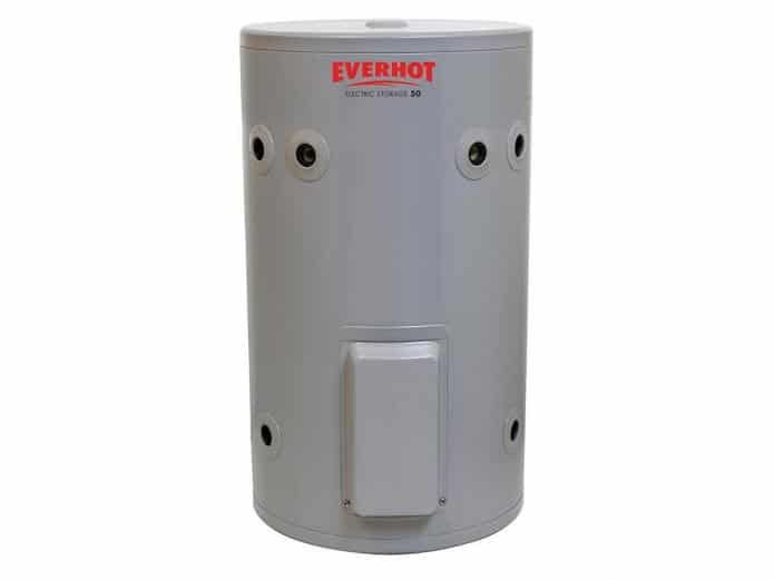 Gravity fed Everhot electric 50 Litre hot water unit
